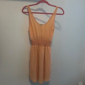 Orange Babaton silk dress